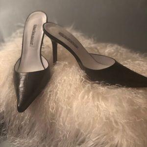 Charles David High Heel Croc Mules